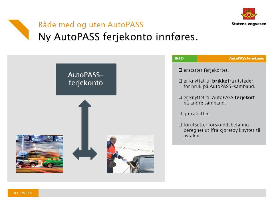  erstatter ferjekortet.  er knyttet til brikke fra utsteder for bruk på AutoPASS-samband.