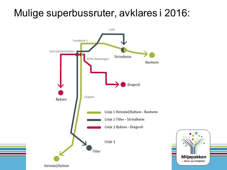 Mulige superbussruter, avklares i 2016: