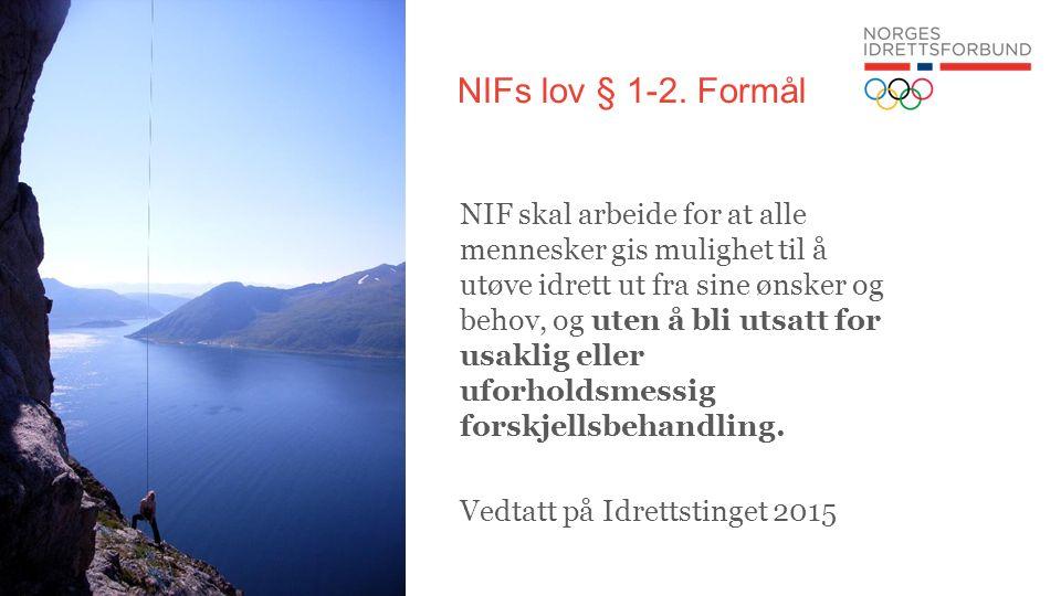 NIFs lov § 1-2.
