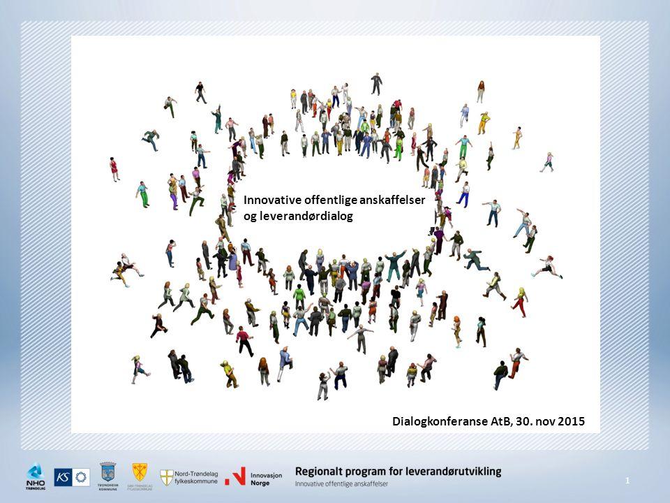 1 Innovative offentlige anskaffelser og leverandørdialog Dialogkonferanse AtB, 30. nov 2015