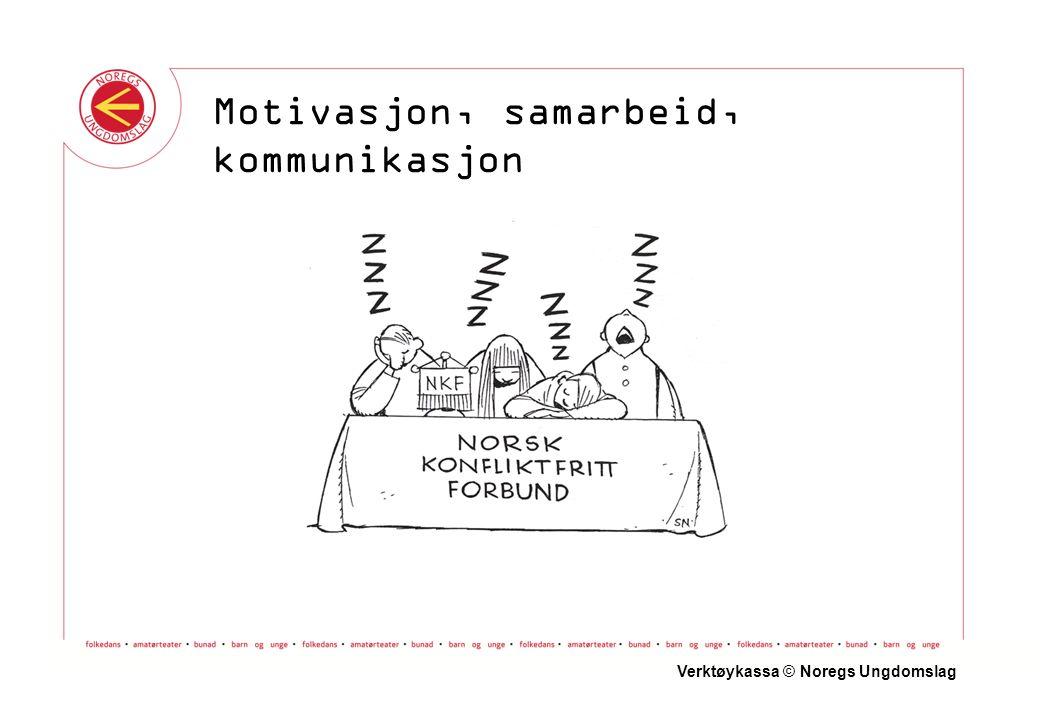 Einvegskommunikasjon Verktøykassa © Noregs Ungdomslag Motivasjon, samarbeid, kommunikasjon