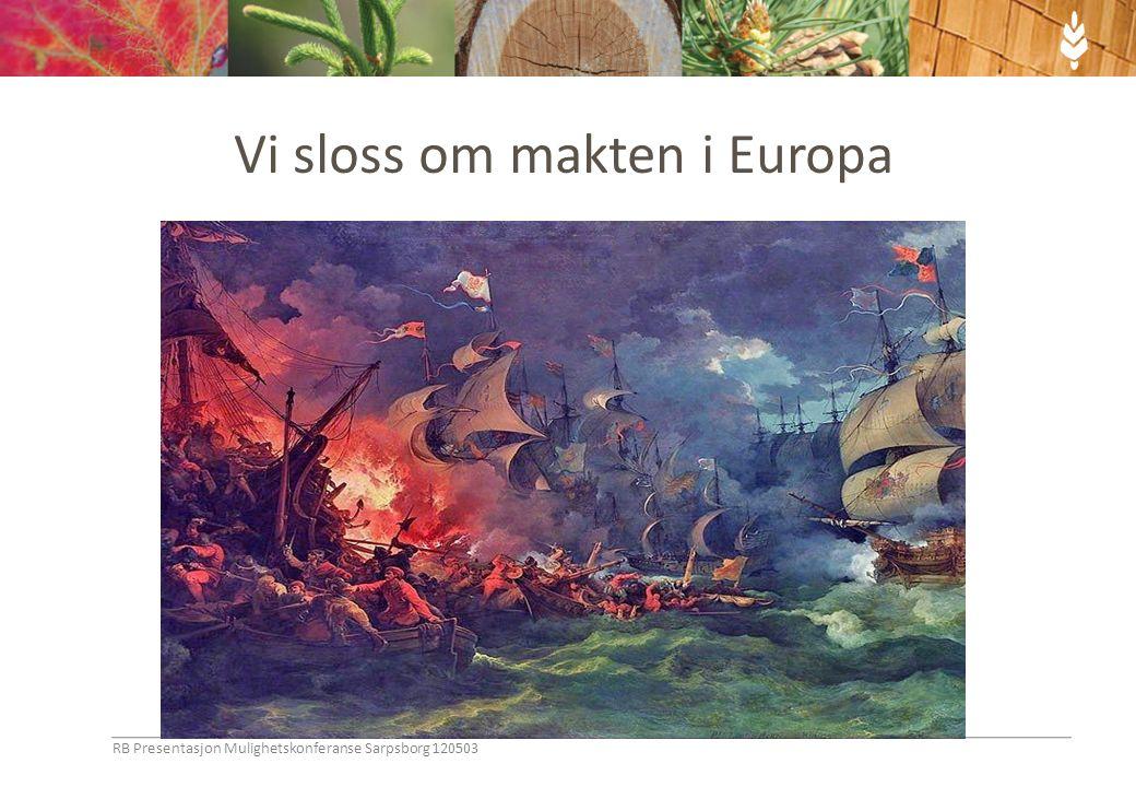 Vi sloss om makten i Europa RB Presentasjon Mulighetskonferanse Sarpsborg 120503
