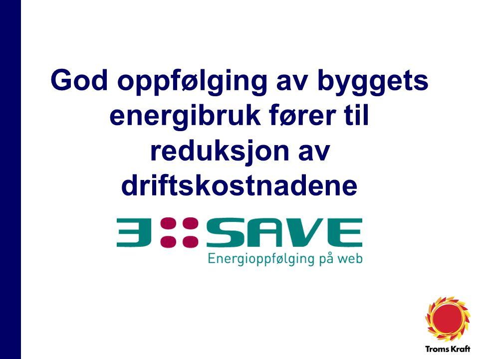 God oppfølging av byggets energibruk fører til reduksjon av driftskostnadene