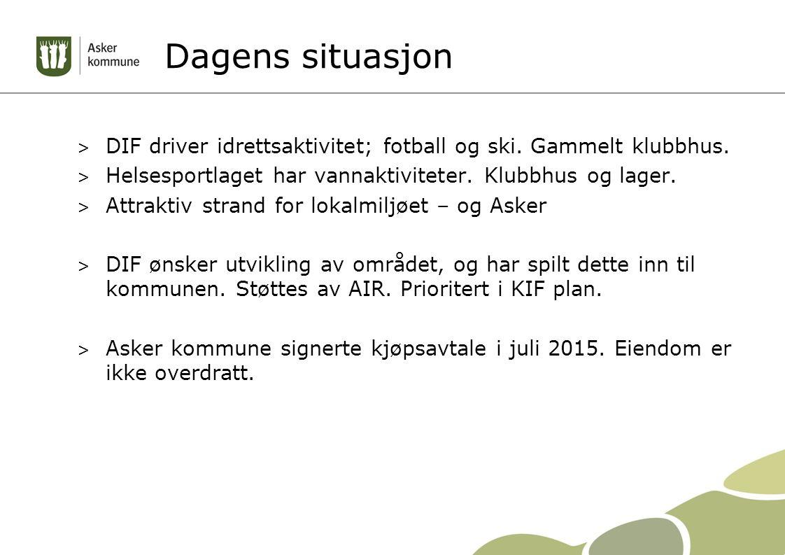 Dagens situasjon > DIF driver idrettsaktivitet; fotball og ski.