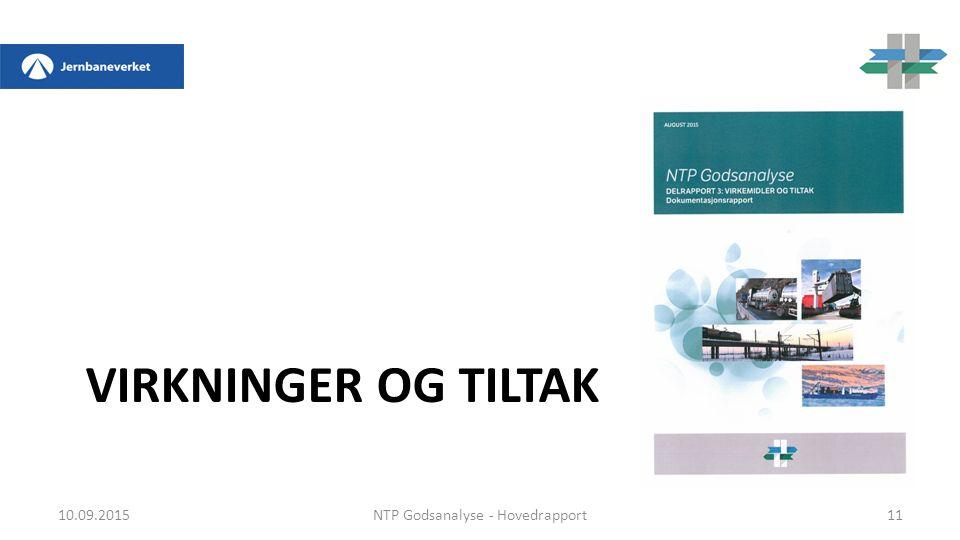 VIRKNINGER OG TILTAK 10.09.2015NTP Godsanalyse - Hovedrapport11