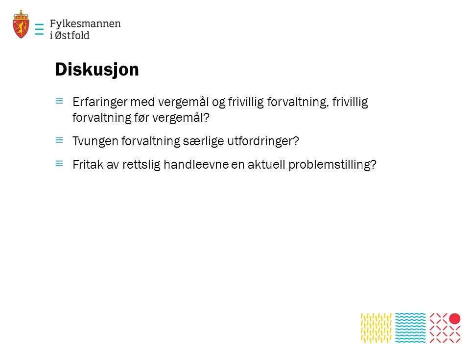 Diskusjon ≡ Erfaringer med vergemål og frivillig forvaltning, frivillig forvaltning før vergemål.