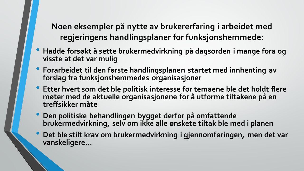 En sjelden stemme i byråkratiet ble til mange Et nytt og viktig tema i handlingsplanen var «små grupper funksjonshemmede» Både i Norge og i Norden hadde det vært en del fokus på sjeldne og lite kjente diagnoser i flere år.