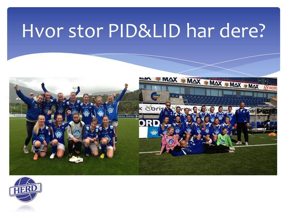 Hvor stor PID&LID har dere?