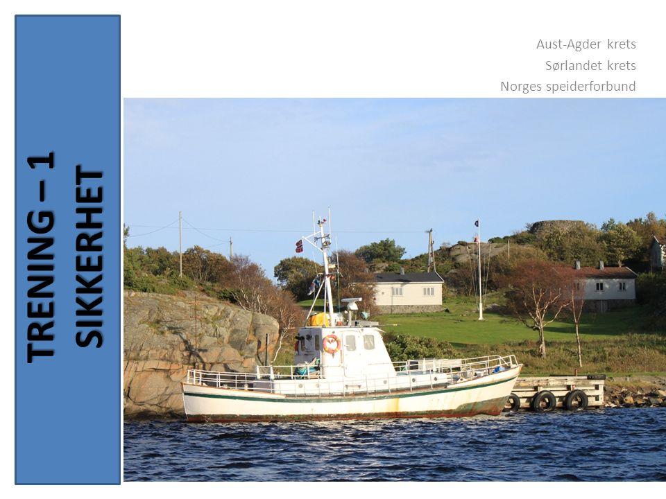 TRENING – 1 SIKKERHET Aust-Agder krets Sørlandet krets Norges speiderforbund