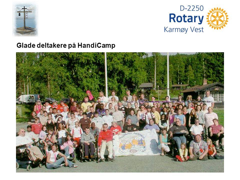 Glade deltakere på HandiCamp