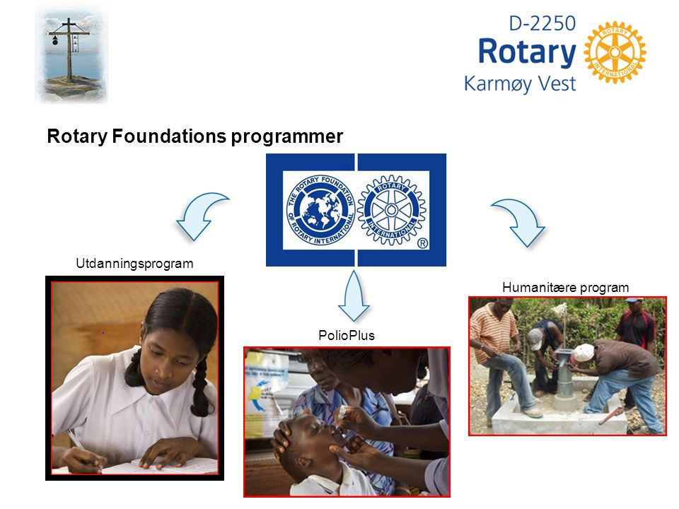 Humanitære program PolioPlus Rotary Foundations programmer Utdanningsprogram