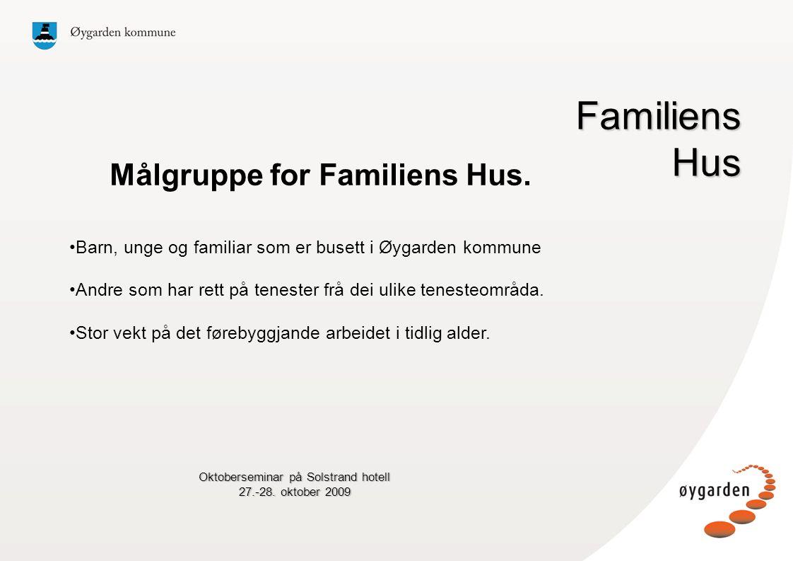 Oktoberseminar på Solstrand hotell 27.-28.