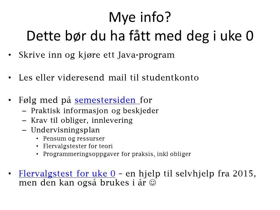 Mye info.
