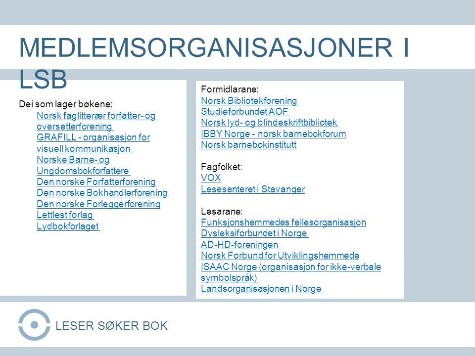 Dei som lager bøkene: Norsk faglitterær forfatter- og oversetterforening GRAFILL - organisasjon for visuell kommunikasjon Norske Barne- og Ungdomsbokf