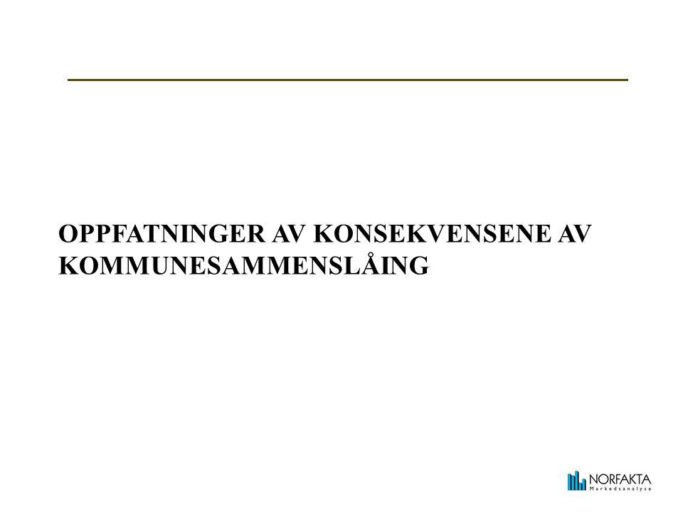 OPPFATNINGER AV KONSEKVENSENE AV KOMMUNESAMMENSLÅING