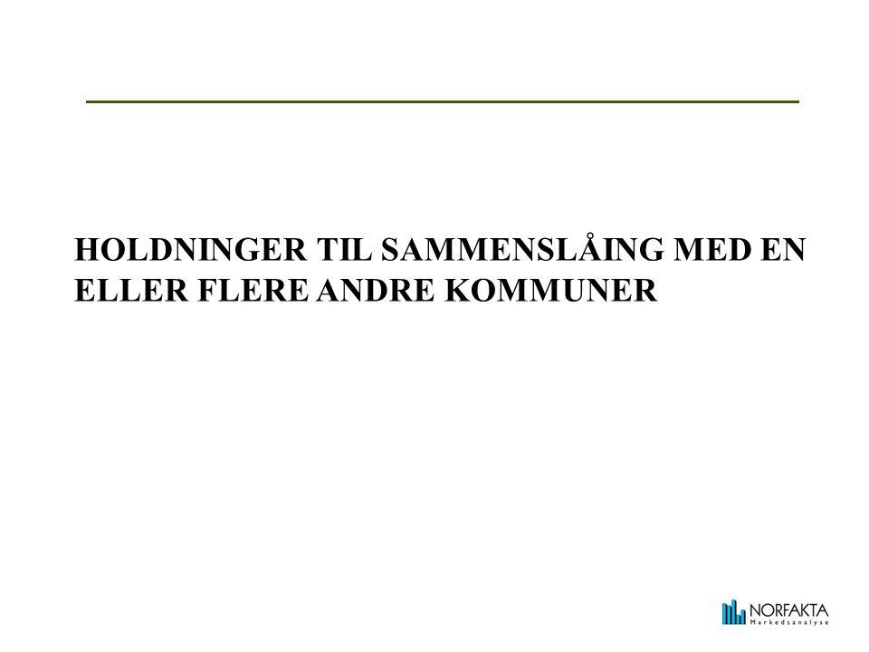 HOLDNINGER TIL SAMMENSLÅING MED EN ELLER FLERE ANDRE KOMMUNER