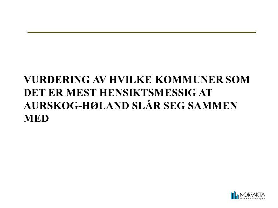 VURDERING AV HVILKE KOMMUNER SOM DET ER MEST HENSIKTSMESSIG AT AURSKOG-HØLAND SLÅR SEG SAMMEN MED
