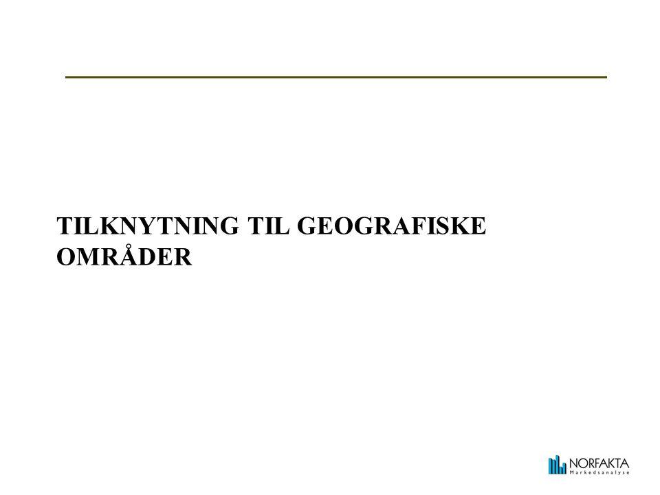 TILKNYTNING TIL GEOGRAFISKE OMRÅDER