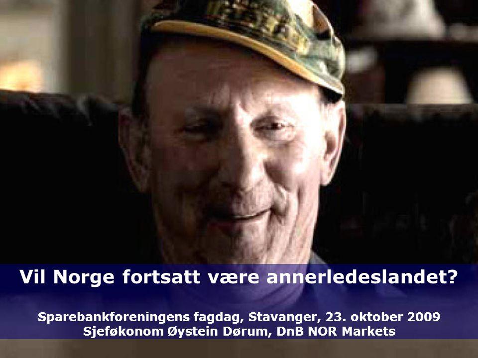 1 TOPTOP POL OPP NOR ENDPOLOPPNOREND 25. september 2016 Vil Norge fortsatt være annerledeslandet.