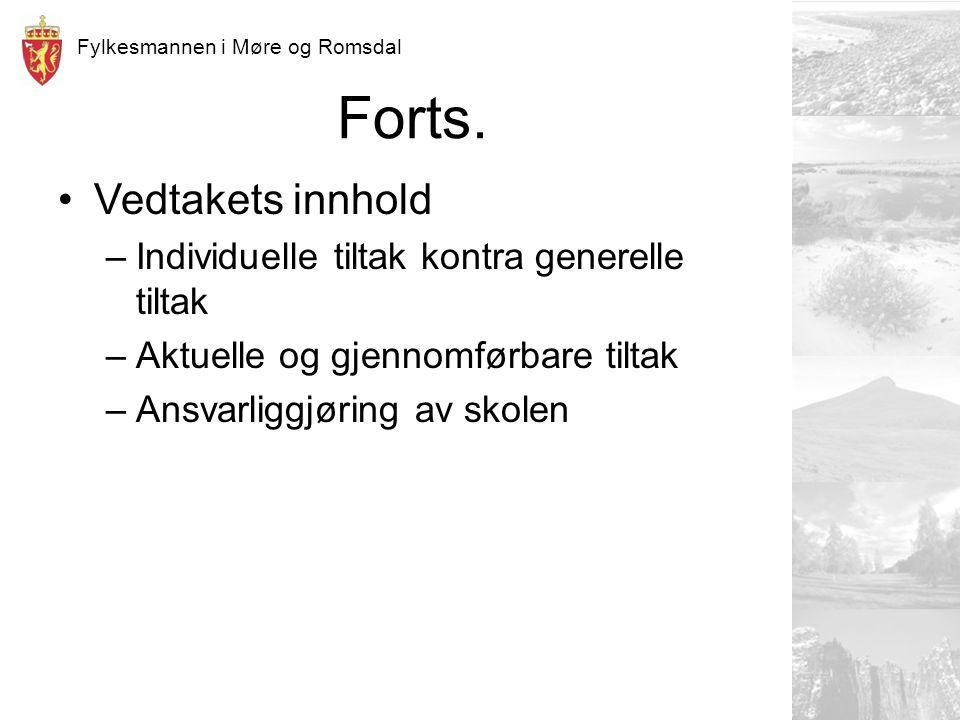 Fylkesmannen i Møre og Romsdal Forts.
