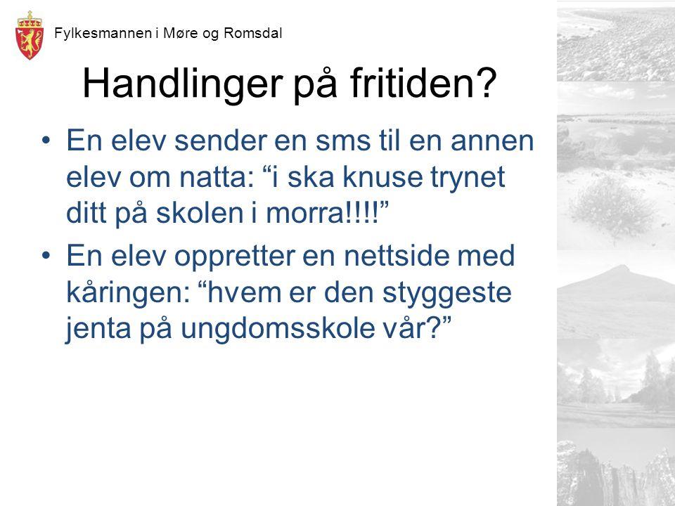 Fylkesmannen i Møre og Romsdal Handlinger på fritiden.