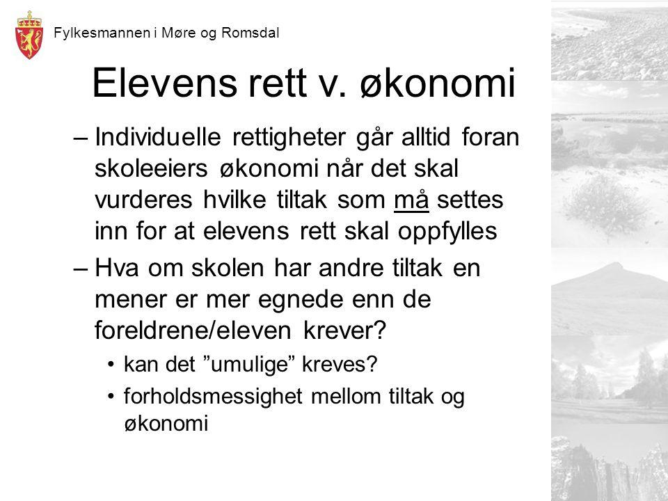 Fylkesmannen i Møre og Romsdal Elevens rett v.