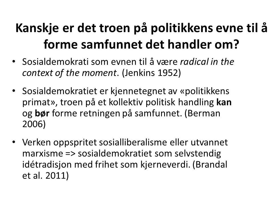 Kanskje er det troen på politikkens evne til å forme samfunnet det handler om? Sosialdemokrati som evnen til å være radical in the context of the mome