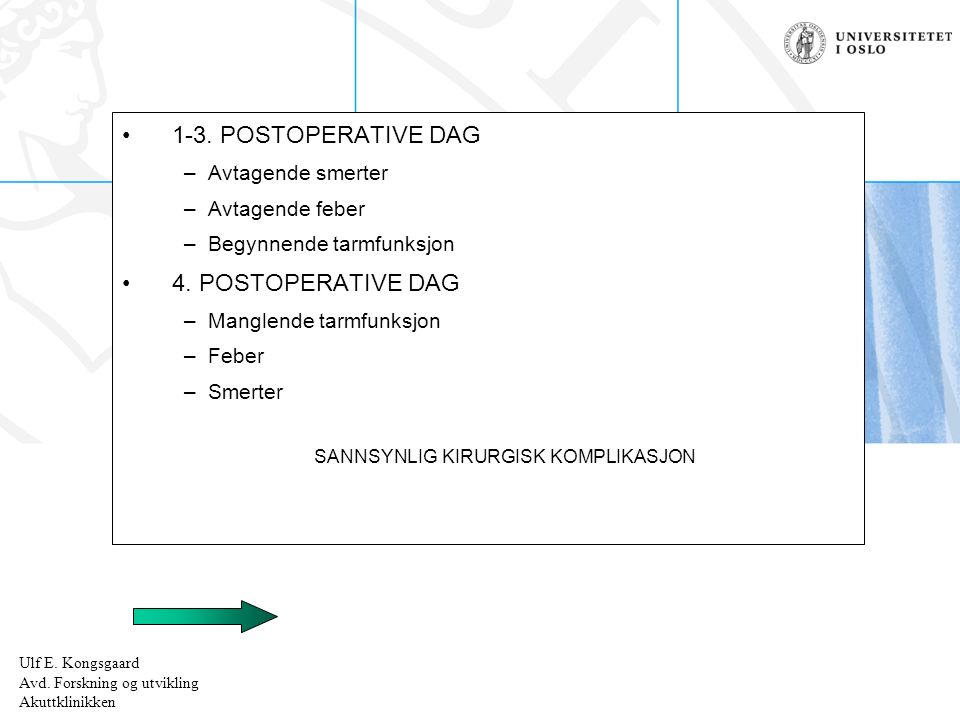 Ulf E. Kongsgaard Radiumhospitalet 1-3.