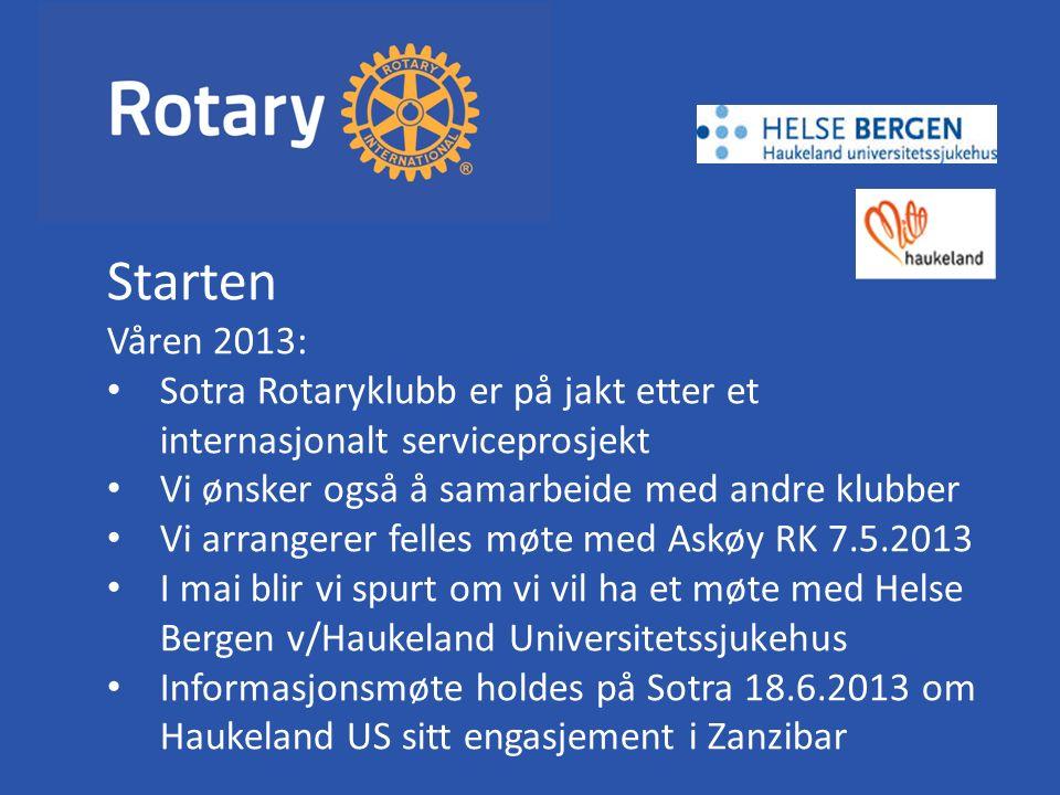 Fornøyde Rotarianere fra Askøy og Sotra og Sykehuspersonell fra Haukeland