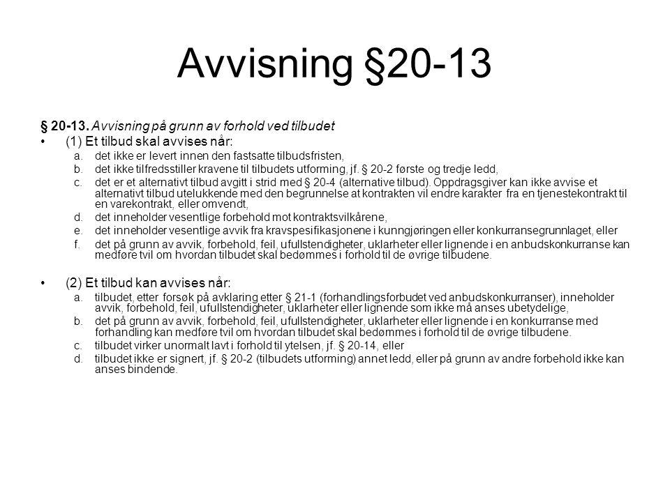 Avvisning §20-13 § 20-13.