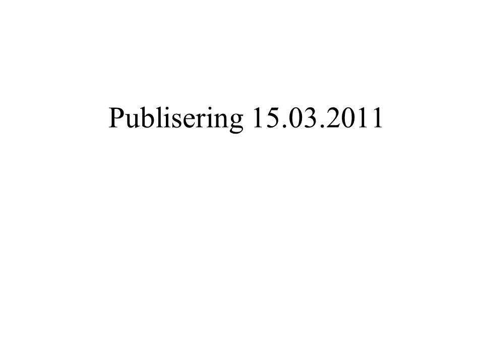 Publisering 15.03.2011