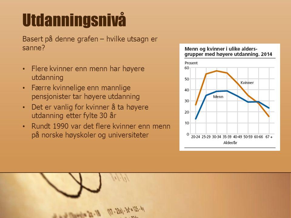Arbeidsstyrke = summen av sysselsatte og arbeidsledige Hvilke utsagn, basert på grafen, er sanne.