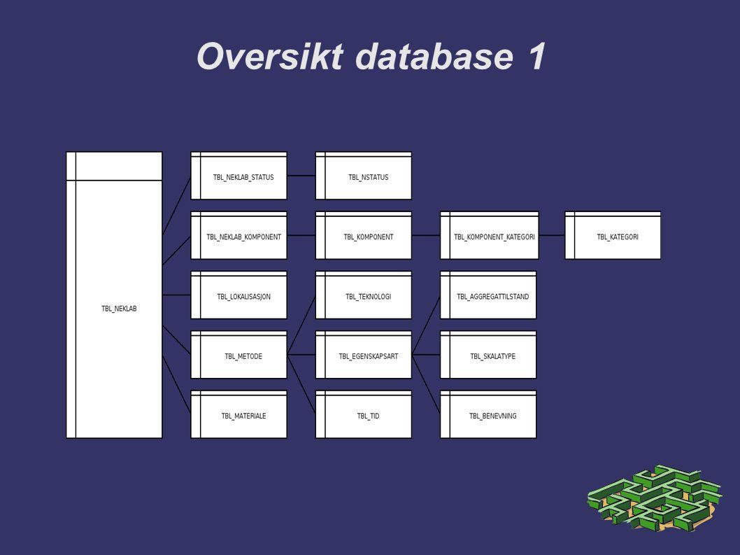Oversikt database 1