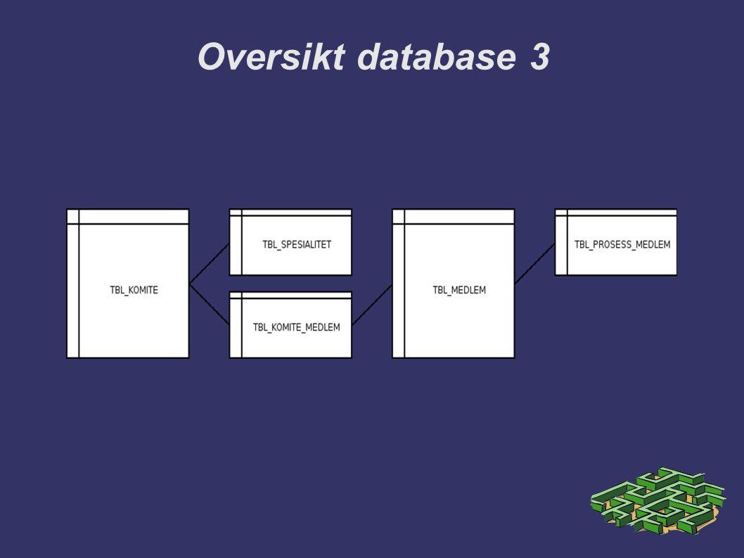 Oversikt database 3