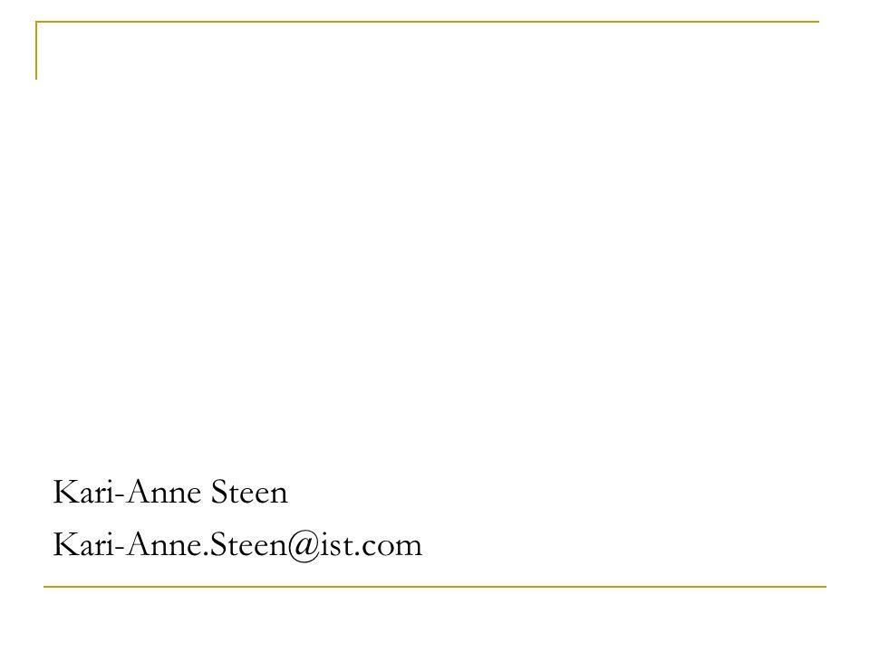 Kari-Anne Steen Kari-Anne.Steen@ist.com