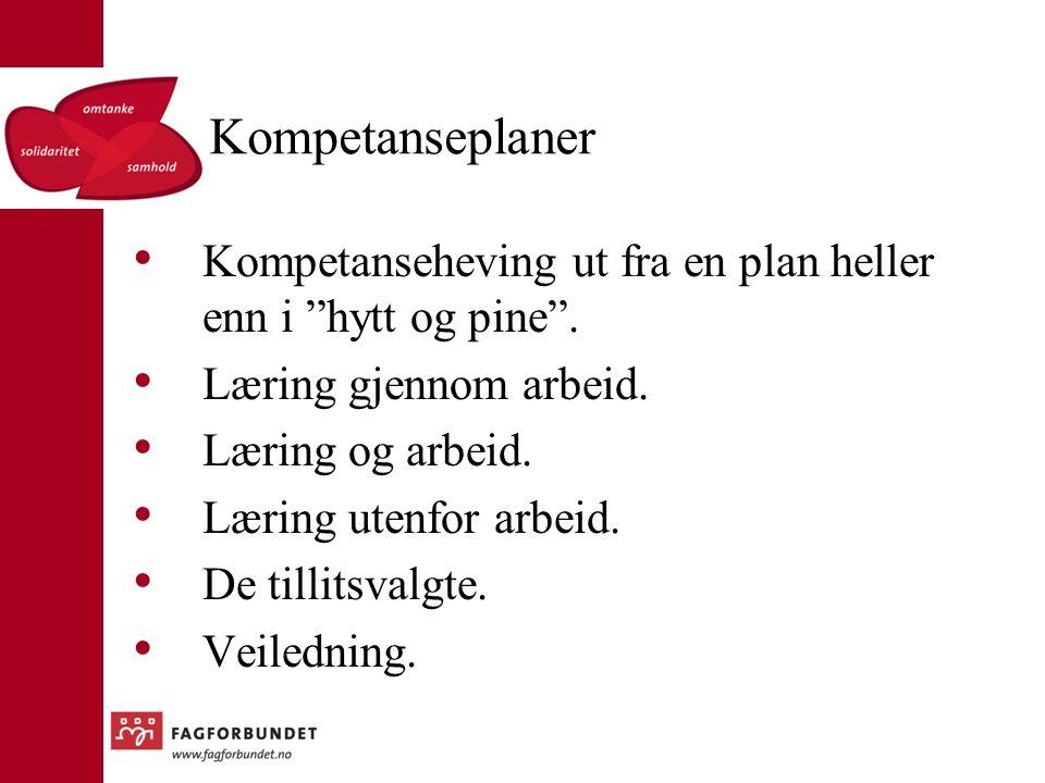 Kompetanseplaner Kompetanseheving ut fra en plan heller enn i hytt og pine .