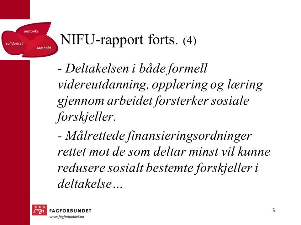 NIFU-rapport forts.