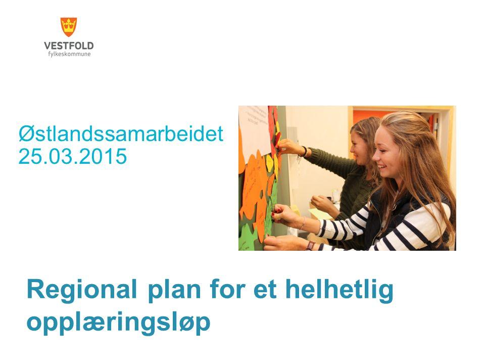 Regional plan for et helhetlig opplæringsløp Østlandssamarbeidet 25.03.2015