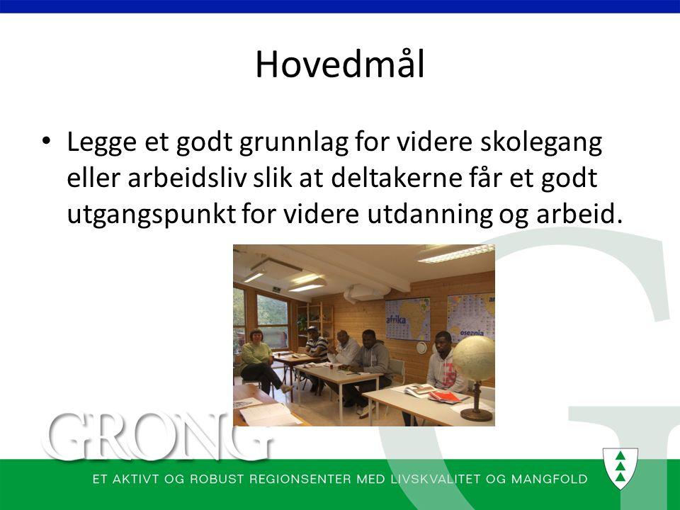 Delmål 1.Lære deltakerne hvordan det er å gå på skole i Norge 2.