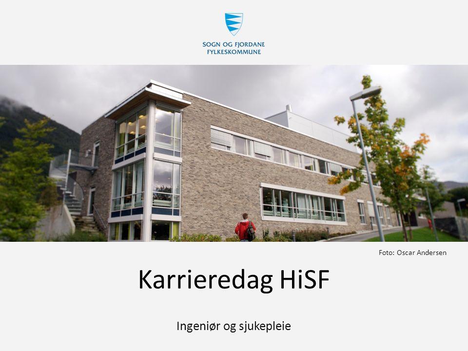 Karrieredag HiSF Ingeniør og sjukepleie Foto: Oscar Andersen
