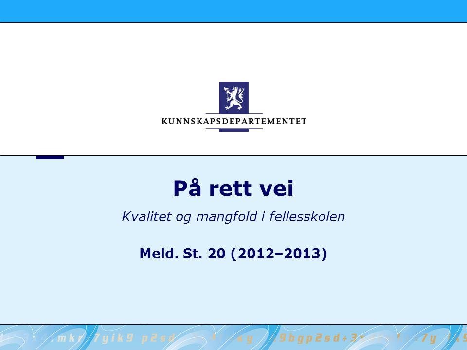 2 Kunnskapsdepartementet På rett vei Endring i lesing fra PISA 2000 til PISA 2009 for Norge og Sverige