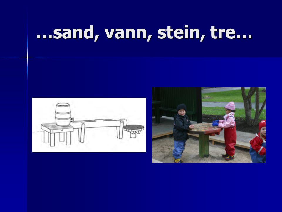 …sand, vann, stein, tre…