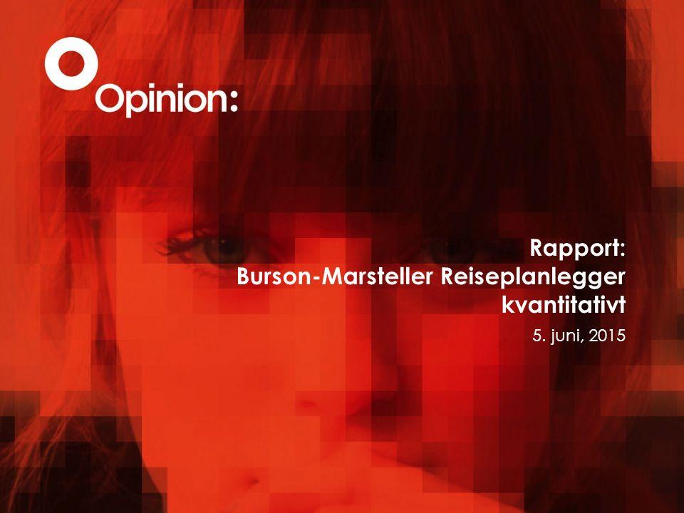 Rapport: Burson-Marsteller Reiseplanlegger kvantitativt 5. juni, 2015