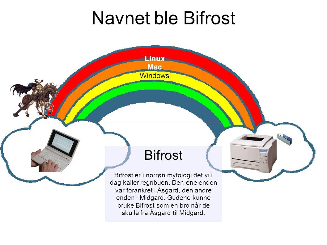 Bifrost Bifrost er i norrøn mytologi det vi i dag kaller regnbuen.