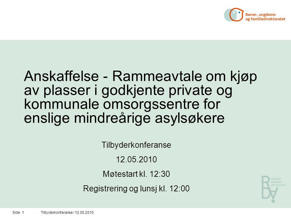 Side 12Tilbyderkonferanse / 12.05.2010 Omsorgsansvaret, jfr.