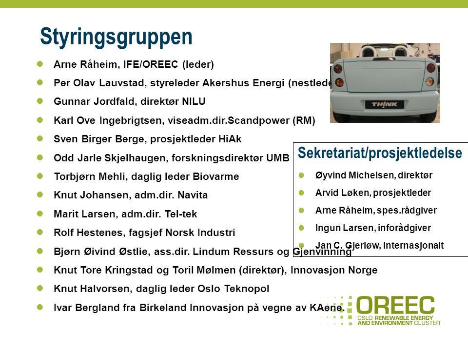 Klyngen – virksomheter innen fornybar energi og miljø Kjernen.