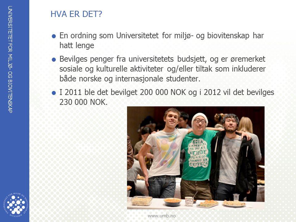 UNIVERSITETET FOR MILJØ- OG BIOVITENSKAP www.umb.no HVA ER DET.