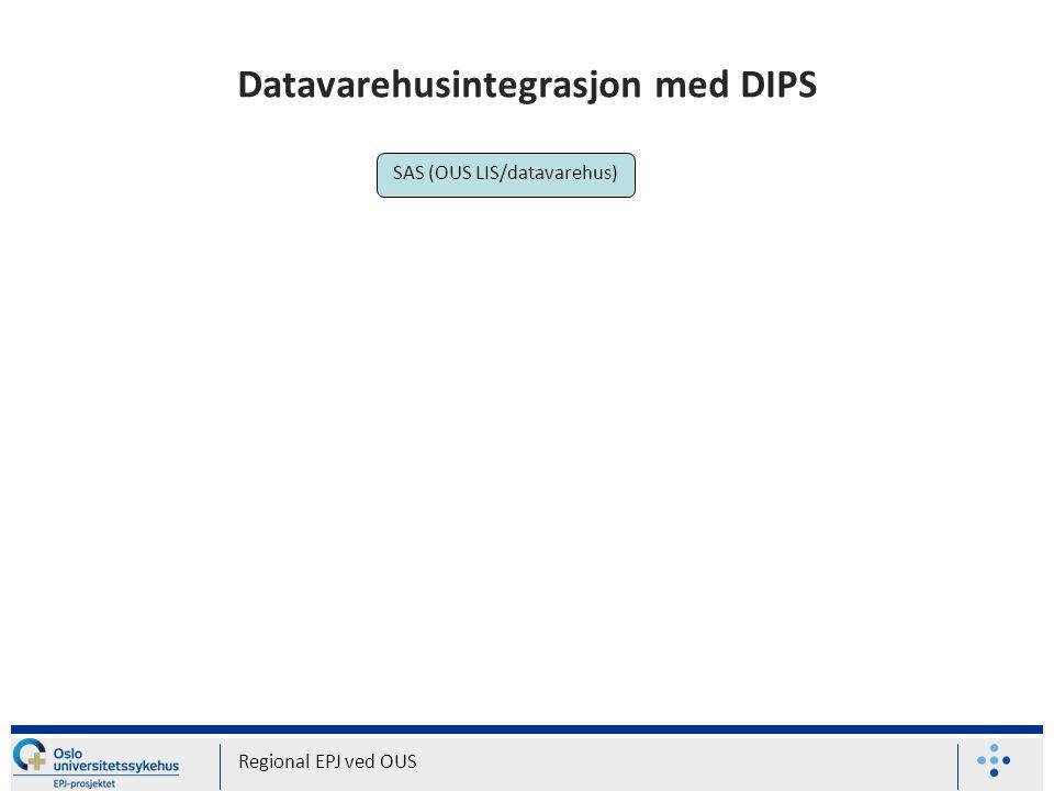 Datavarehusintegrasjon med DIPS Regional EPJ ved OUS SAS (OUS LIS/datavarehus)