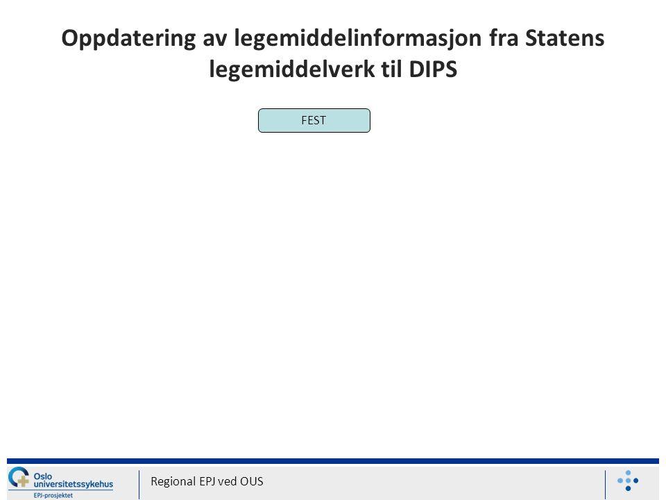 Oppdatering av legemiddelinformasjon fra Statens legemiddelverk til DIPS Regional EPJ ved OUS FEST