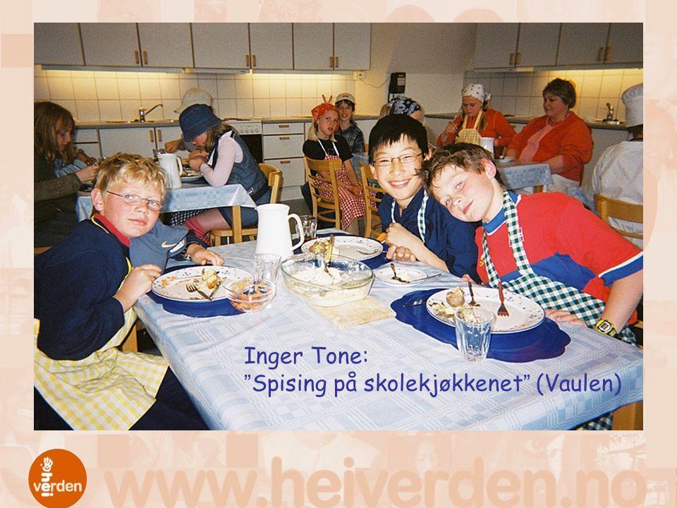 """Inger Tone: """"Spising på skolekjøkkenet"""" (Vaulen)"""